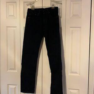 Men's Levi's 505 Jeans. 33x34. Deep navy blue.
